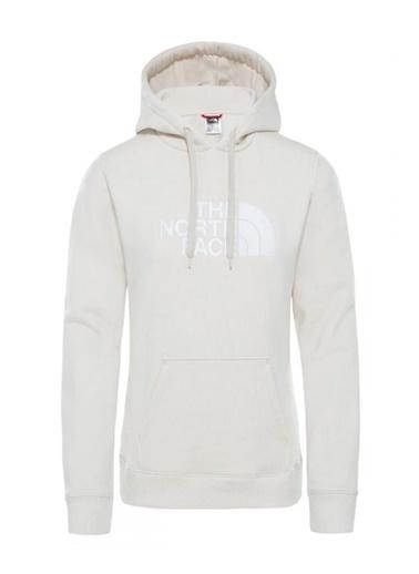 The North Face Drew Peak Pullover Hoodie Kapüşonlu Kadın Sweatshirt Beyaz Renkli